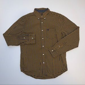 American Eagle Classic Fit Checkered Long Sleeve